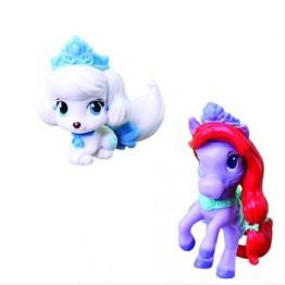 Figurina Disney 3.8 cm - Catelusul Cenusaresei si Poneiul lui Ariel (Seashell si Pumpkin) Blip Toys