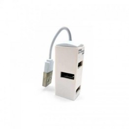 Hub USB E-Blue Dynamic Purity Alb