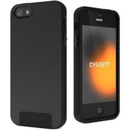 Husa protectie Cygnett Second Skin Silicon Negru pentru iPhone 5 si 5S