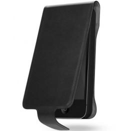 Husa protectie Cygnett Lavish Leather Negru pentru iPhone 5S