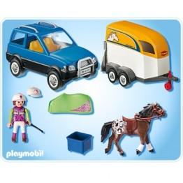 Masina cu remorca pentru cal Playmobil