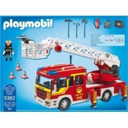 Masina de Pompieri cu scara, lumini si sunete Playmobil