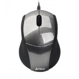 Mouse A4Tech N-100 , V Track , 1600 DPI , Negru/Gri