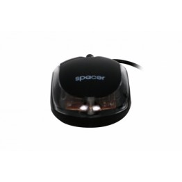 Mouse Spacer SPMO-080 , Optic , 800 DPI , Negru