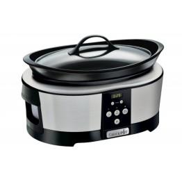 Oala electrica de gatit Crock Pot 5.7L Slow Cooker cu cronometru digital