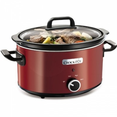 Oala electrica de gatit Crock Pot Slow Cooker 3.5L rosu