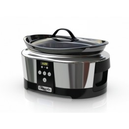 Oala electrica de gatit Crock Pot 5.7L Slow Cooker cu cronometru digital