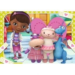 Puzzle + Joc Memory Doctorita Plusica, 3 bucati in cutie 15/20/25 piese Ravensburger