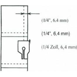 Piciorus pentru cusut petice de materiale, cu rezerva de la margine de 1/4