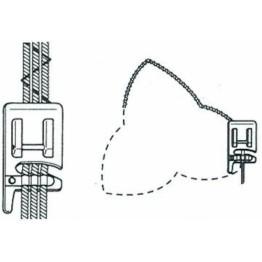 Piciorus pentru atasat snururi decorative (1-3 fire) de grisome maxima 1mm