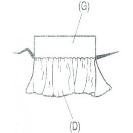 Piciorus pentru incretirea materialului