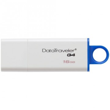 Stick memorie USB Kingston Data Traveler IG4 , 16 GB , USB 3.0 , Alb/Albastru