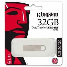 Stick memorie USB Kingston Data Traveler SE9 G2 , 32 GB , USB 3.0 , Argintiu
