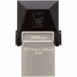 Stick memorie Kingston DataTraveler MicroDuo , 32 GB , USB 3.0 , USB On-The-Go ,  Gri