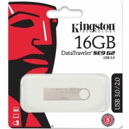 Stick memorie USB Kingston Data Traveler SE9 G2 , 16 GB , USB 3.0 , Argintiu