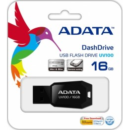 Stick memorie USB AData UV100 , 16 GB , USB 2.0 , Negru