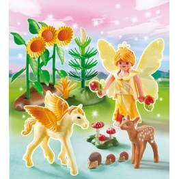 Zana Toamnei cu cal inaripat Playmobil